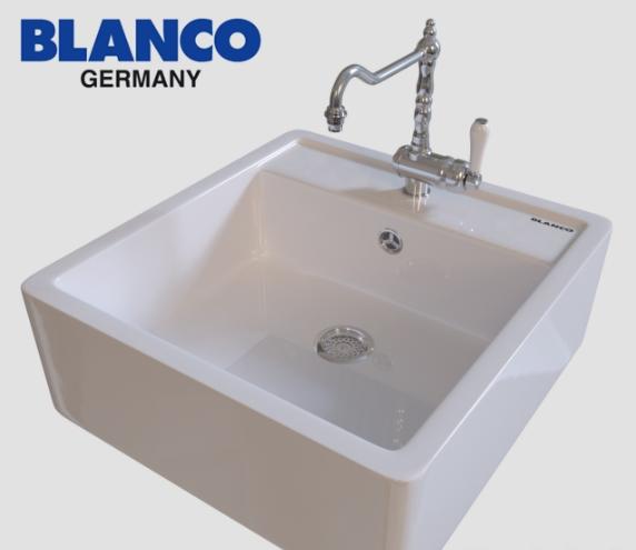 Blanco PANOR 60 кухонная накладная керамическая мойка (белый)
