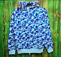 Толстовка бейп голубая Bape Camo green blue (ТОП реплика), фото 1