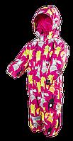 """Зимний сдельный комбинезон """"Лисички"""" для малышки р.80-98  ТМ Pidilidi-Bugga (Чехия)"""