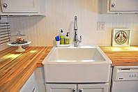 Кухонная накладная керамическая мойка IKEA Domsjo 1 (белый), фото 1
