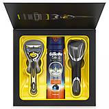 Подарунковий Набір Gillette Fusion ProShield: Чоловіча Бритва Fusion ProShield+Гель для гоління Fusion ProGlide Se, фото 3