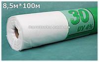 Агроволокно Плотность 30г/кв.м 8,5м х 100м Белое (AGREEN)