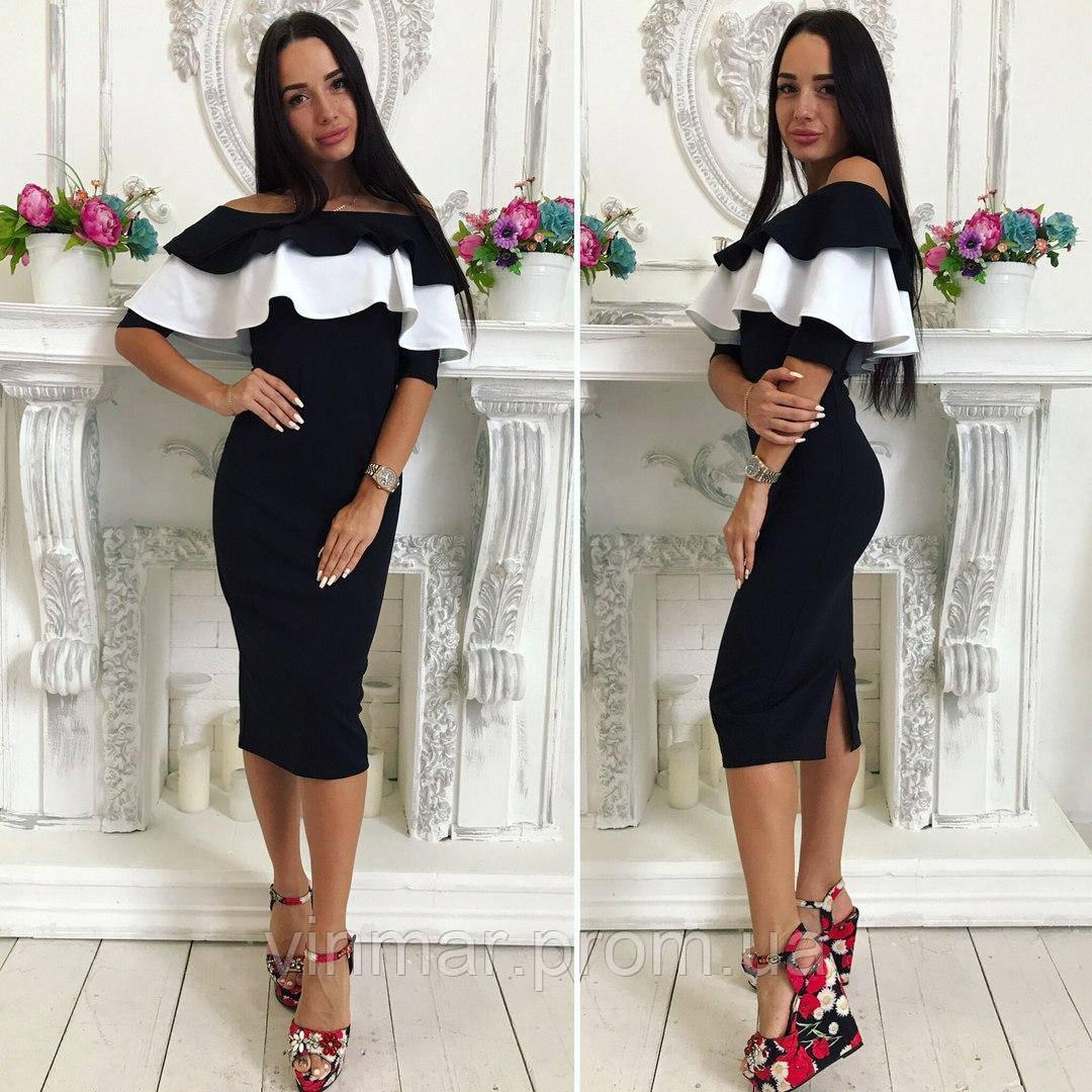 Платье с двойным воланом