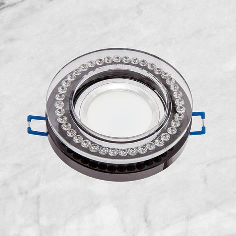 Точечный стеклянный врезной светильник (16-MKD058), фото 2