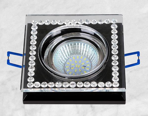 Точечный стеклянный врезной светильник (16-MKD068), фото 2