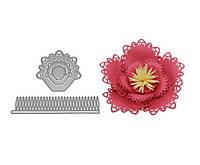 """Ножи для вырубки набор из 4 шт """"Цветок 3D"""" для фоамирана, бумаги, фетра для скрапбукинга"""
