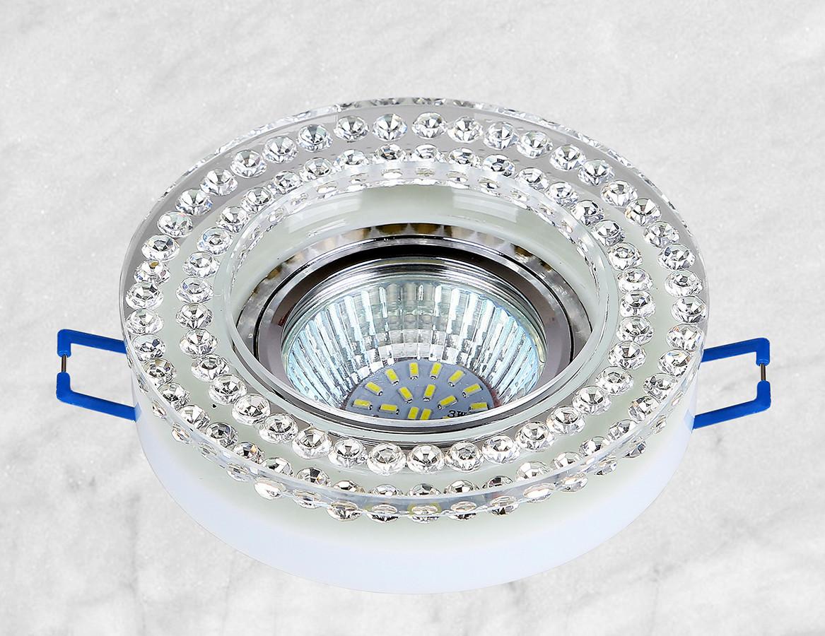 Точечный стеклянный врезной светильник (16-MKD076)
