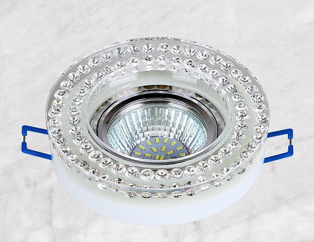 Точечный стеклянный врезной светильник (16-MKD076), фото 2