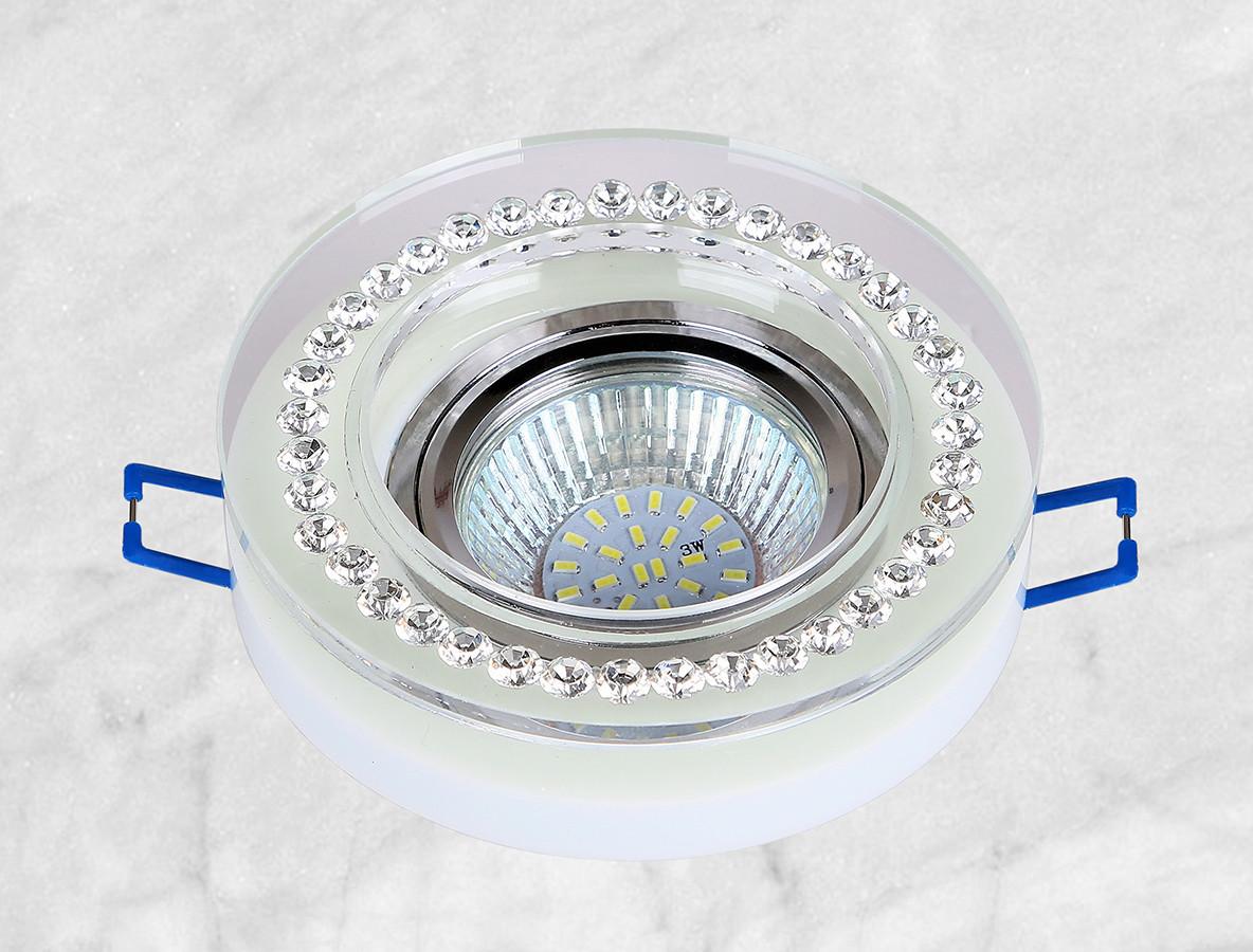 Точечный стеклянный врезной светильник (16-MKD056)
