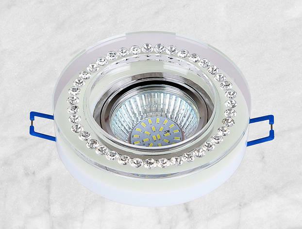 Точечный стеклянный врезной светильник (16-MKD056), фото 2