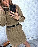 Женская стильная прямая вязаная туника-платье хит (в расцветках), фото 2