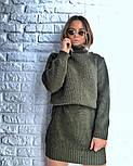 Женская стильная прямая вязаная туника-платье хит (в расцветках), фото 4