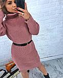 Женская стильная прямая вязаная туника-платье хит (в расцветках), фото 3
