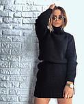 Женская стильная прямая вязаная туника-платье хит (в расцветках), фото 5