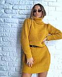 Женская стильная прямая вязаная туника-платье хит (в расцветках), фото 7