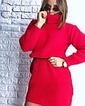 Женская стильная прямая вязаная туника-платье хит (в расцветках), фото 9