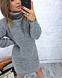 Женская стильная прямая вязаная туника-платье хит (в расцветках), фото 10