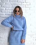 Женская стильная прямая вязаная туника-платье хит (в расцветках), фото 8