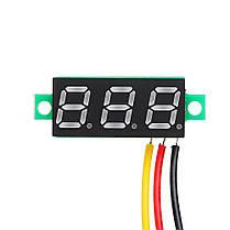10Pcs Geekcreit® Yellow LED 0,28 дюймов 2.6V-30V Миниатюрный измеритель напряжения вольтметра Voltmeter 1TopShop, фото 2