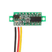10Pcs Geekcreit® Yellow LED 0,28 дюймов 2.6V-30V Миниатюрный измеритель напряжения вольтметра Voltmeter 1TopShop, фото 3