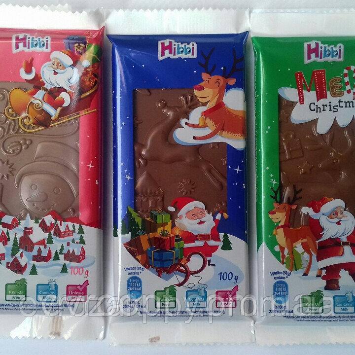 Новогодний шоколад Hibbi 100g