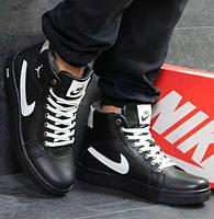 68bd900a Мужские кроссовки Nike Jordan, зимние, натуральная кожа, черные, Найк 2018