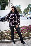 Женская рубашка клетка 68-70 размер v662, фото 3
