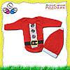 Детский боди новогодний с шапочкой Санта