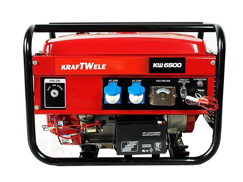 Бензогенератор KRAFTWELE OHV 6500 4,5KW 1F ES