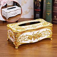 Tissue Коробка Акриловый держатель Авто Номер Home Hotel Винтаж Ретро Цветочный Люкс 2 Цвет - 1TopShop