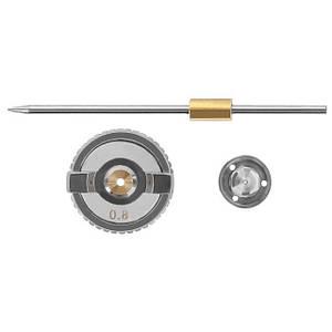 Комплект форсунки 0.8мм для краскопульта HVLP РТ-0101 (форсунка, воздушная головка, игла) INTERTOOL PT-2002