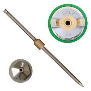 Комплект форсунки 1.3мм для краскопульта LVLP PT-0131,PT-0132,PT-0133,PT-0134,PT-0135,PT-0136 (дюза, воздушная