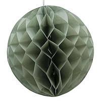 Бумажный шар соты 20 см серый 0025, фото 1