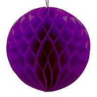 Бумажный шар соты 20 см фиолетовый 0021, фото 1