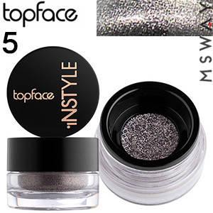 TopFace - Тени для век рассыпчатые Instyle Loose PT-509 Тон 05 мокрый асфальт блестящий перл, фото 2