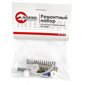 Набор ремонтный для краскопульта HVLP PT-0102 15 ед. INTERTOOL PT-2172