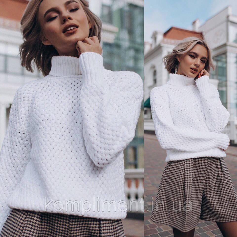 """Женский вязаный свитер """"Sunset"""", белый"""