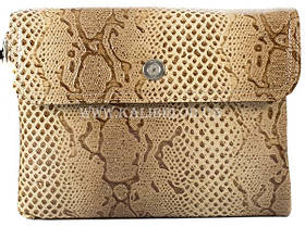 Розпродаж! Жіночий шкіряний бежевий клатч Karya під змію 0691-011 Туреччина