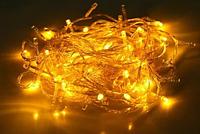 Гирлянда светодиодная 100 Led силикон 8 м Контроллер белая Желтый цвет 8 режимов G001