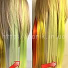 🍋 Яркие неоново лимонные цветные пряди на заколках клипсах 🍋, фото 5