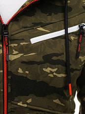 """Толстовка(батник)мужская  с капюшоном """"милитари"""" на застежке Польша, фото 3"""