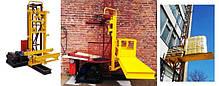 Высота подъёма Н-49 метров. Мачтовый грузовой подъёмник-подъёмники для строительных работ  ПМГ г/п 750 кг, фото 3