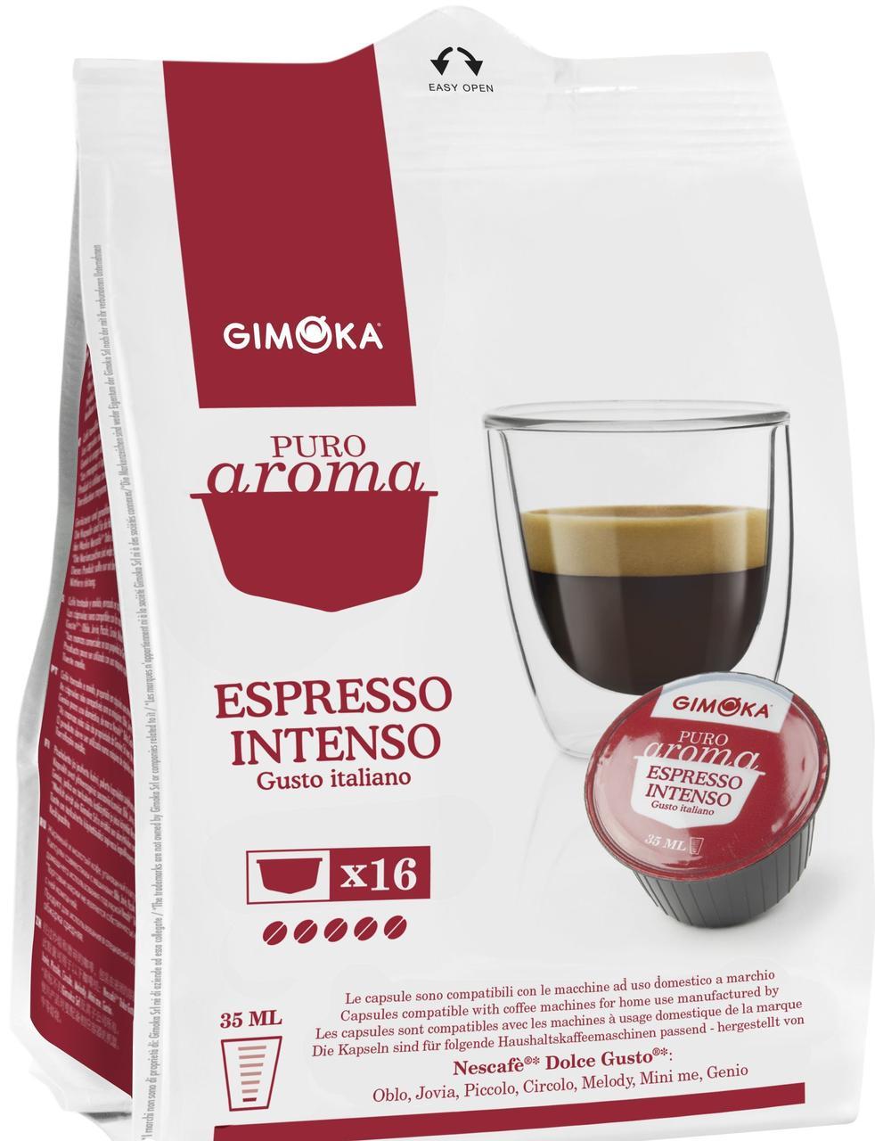 Кофе в капсулах Dolce Gusto (Nescafe) Gimoka Intenso 16 шт., Италия (Нескафе Дольче Густо)