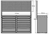 Інструментальна візок 14 полиць з перфорованою панеллю, фото 2