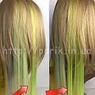 🍋 Ядовито неоново лимонные цветные пряди на заколках клипсах 🍋, фото 8