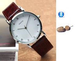 """Микронаушник с bluetooth гарнитурой в виде часов для сдачи экзаменов """"Элита люкс + часы"""""""