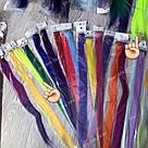 🍋 Цветные пряди на заколках клипсах лимонного цвета 🍋, фото 10