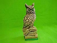 Статуэтка из гипса «Сова маленькая на книге» цветная