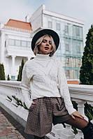 """Стильный женский вязаный свитер """"Ключик"""", молочный, фото 1"""