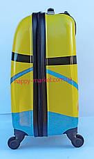 Валіза дитячий дорожній якість Люкс ручна поклажа 45 см Josepf Ottenn Міньйон 11961Mi-2 двосторонній, фото 3